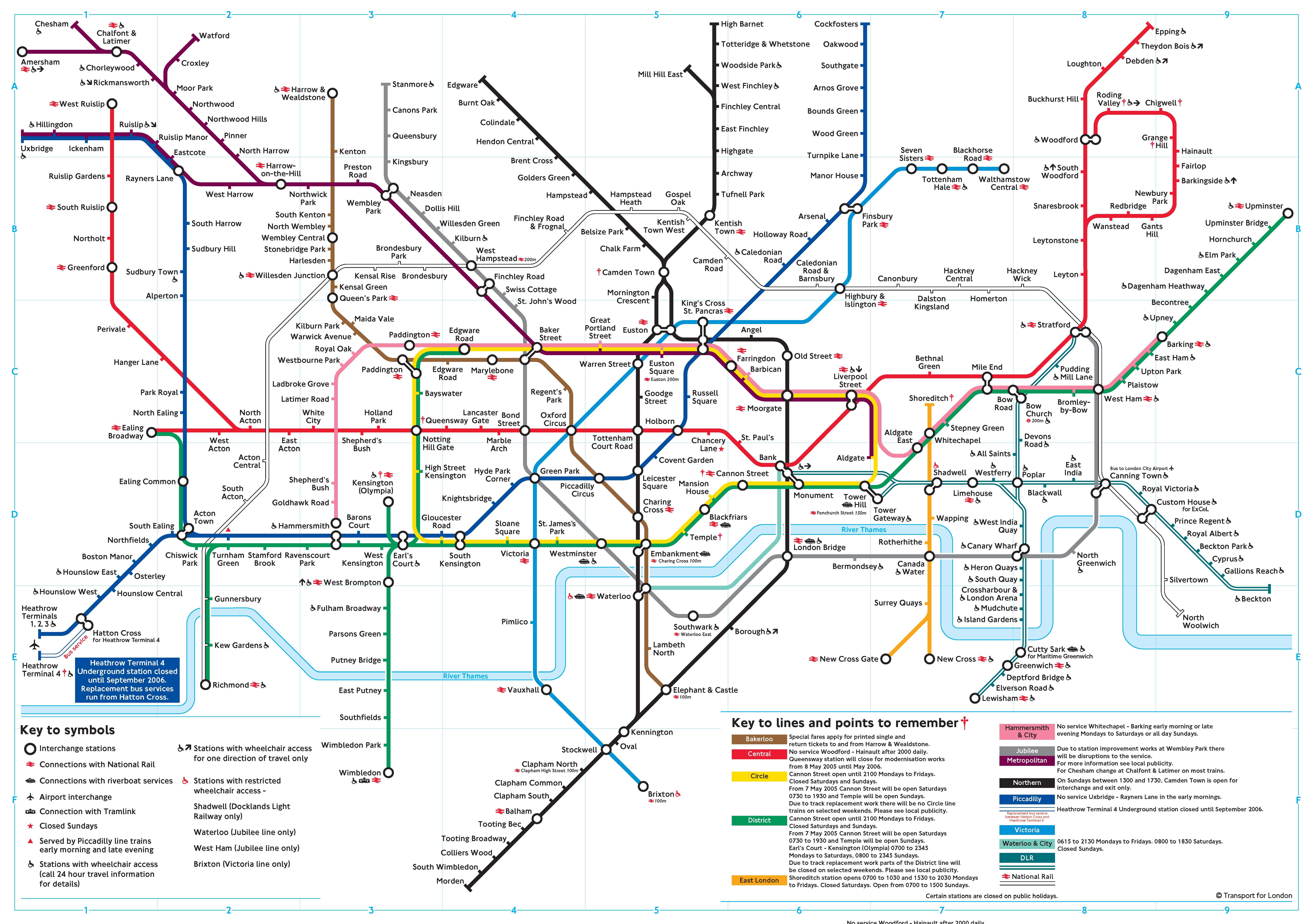 Tube Map - London tube map 2014